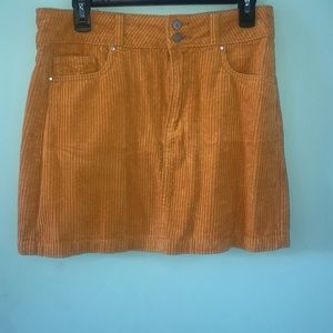 Yellow Corduroy Skirt from Pacsun